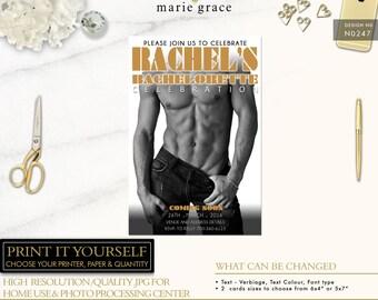 Bachelorette Invitation template, Magic Mike, Bachelorette Invitations, Hen's night