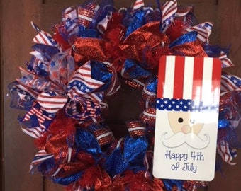 Independence Day 4th of July Holiday Wreath