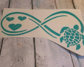 Infinity Turtle adhesive decal