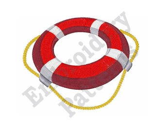 Life Ring - Machine Embroidery Design - 4 X 4 Hoop, Lifesaver, Lifebuoy, Kisby, Preserver, Swim Ring, Nautical