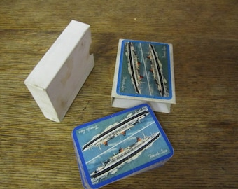 Transatlantique/French Line Playing Card Deck.