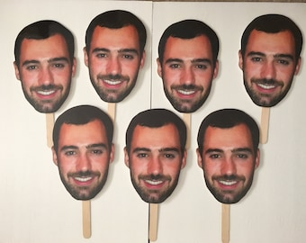 RUSH ORDER - Overnight Shipping - Bridal Shower Photo Prop - Groom Picture on Stick - Photo Prop - Party Custom Photo Prop - Big Head Photo