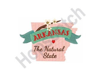 The Natural State - Machine Embroidery Design - 5 X 7 Hoop, Arkansas State