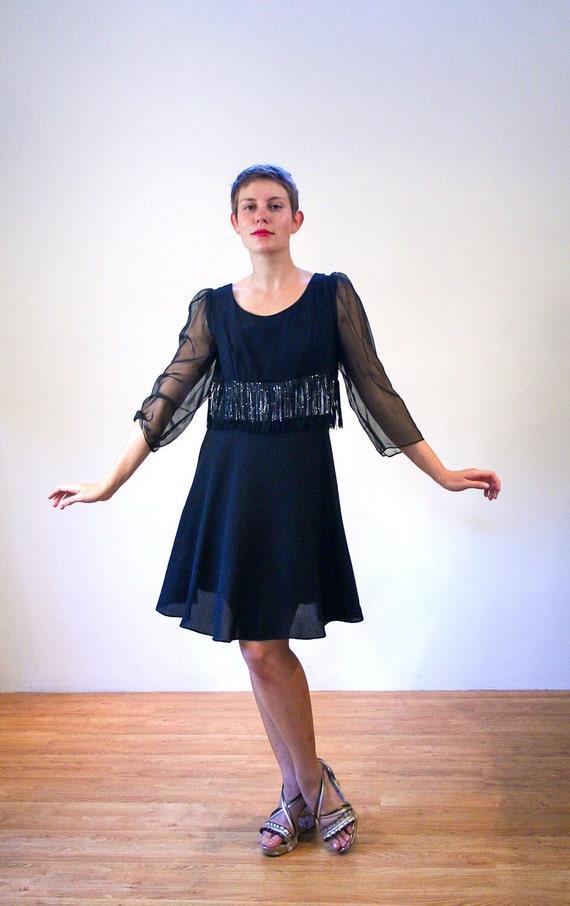 Schwarz Go Kleid Chloe es Party 60er Jahre Kleid M schwarzes