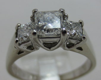 Layaway for Katie C. and David M  ---  LEO Diamond  - Platinum   VS-1-2-GH   Engagement Ring  (1 carat)