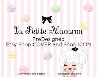 La Petite Macaron- PreDesigned Etsy Shop Cover Photo and Shop Icon design