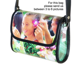 Personalized crossbody bag SMALL size with pictures from you printed on it - FREE SHIPPING - gift gifts for mom girlfriend custom customized
