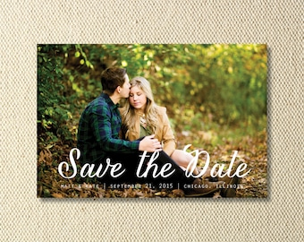 Printable Script Save The Date Photo Card
