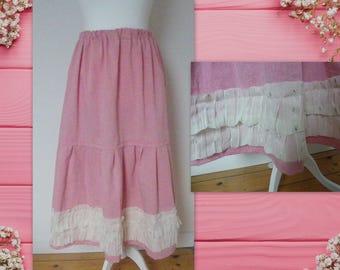 Skirt or petticoat ruffles