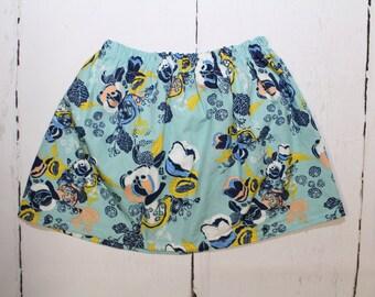 4T/5T Moonstone Meadow Girls Cotton Skirt, Florascape Print Girls Skirt, Knee Length Skirt, Toddler, Baby Skirt, Basics, Toddler Skirt
