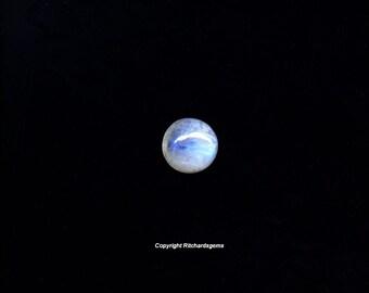 10 mm Natural Semi Precious Rainbow Moonstone Round Smooth Cabochon