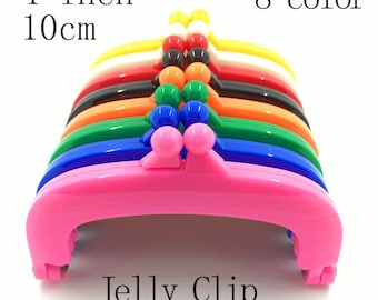 Purse frame 4 inch Turquoise  lecien jelly clip 10 cm coin purse bag hardware resin closure 8 colors clips  * 8 pieces