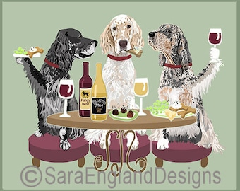 Dogs WINEing - English Setter