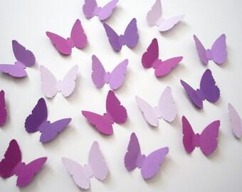 Mixed Purple Butterfly Confetti, Garden Party Table Decor, Birthday - No612