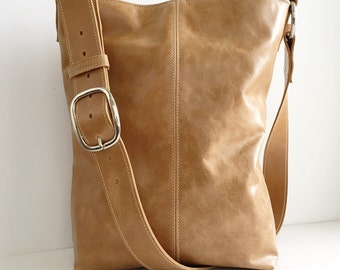 INDIE Leather Tote - Boho - Leather Crossbody Bag - Leather Messenger Bag - Leather Tote - Womens Handmade Handbags - More Colors