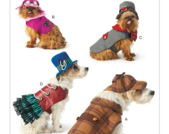 Sewing Pattern for Dog Clothes, Dog Costumes ,McCall's Pattern 7004, Dog Sizes S to XL, Dog Steampunk, Dog Detective, Halloween Dog Costumes