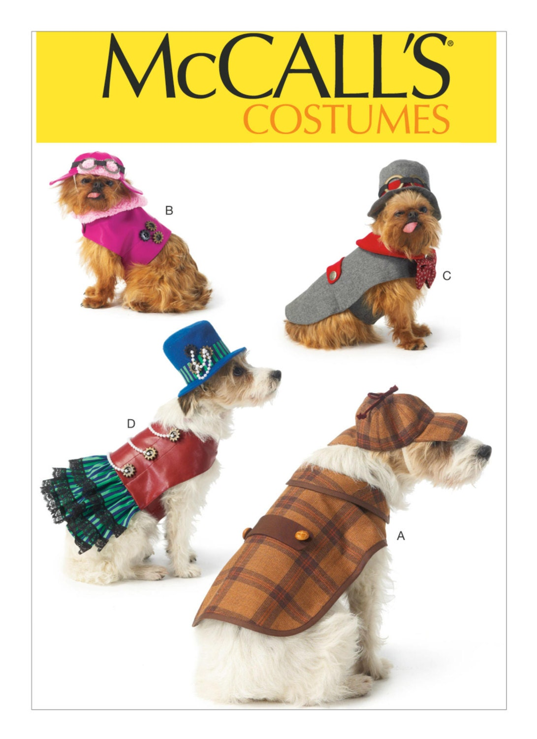 Sewing Pattern for Dog Clothes, Dog Costumes ,McCall\'s Pattern 7004 ...
