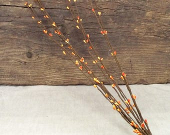 """16"""" Pip Berry Stems in Orange - Package of 10 Stems"""