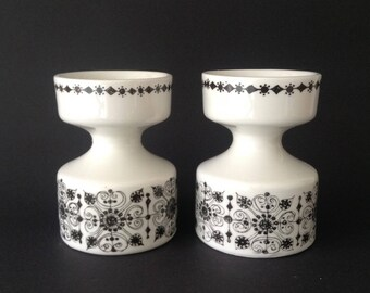 À set of two Figgjo Flint Candle Holders Norway