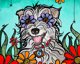 Custom Pet Portraits Original RobiniArt Trending Now On Canvas Dog Artist Dog Painting Pet Loss Gifts, Best Selling Art, Portrait from Photo