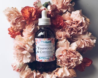 TEAKWOOD & CARDAMOM Bath + Body Nectar | Body Oil | Bath Oil