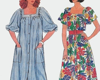 ON SALE Vintage 1980s Misses' Fast and Easy Loose-fitting Dress Sewing Pattern Butterick 2184 80s Disco Era Plus Suze Pattern Size 18-22 B40