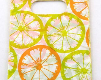 50 Citrus Orange Lime  Gift Bags 15 x 9cm Plastic