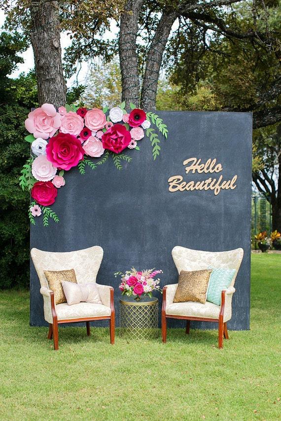 Paper flower backdrop flower wall flower backdrop paper description paper flower backdrop for weddings mightylinksfo Images
