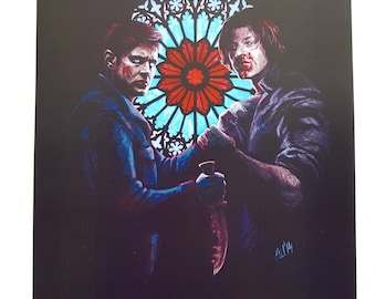 Sam and Dean Winchester A4 poster