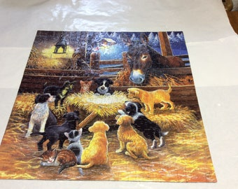 "Jigsaw puzzle that measures 19""x19 """