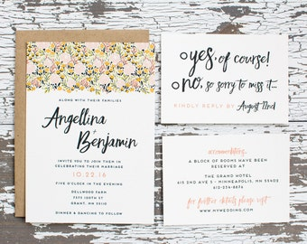 Floral Bliss Wedding Invitation
