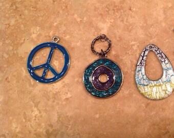Teal pendants