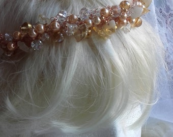 Bridal Amber Queen Crown