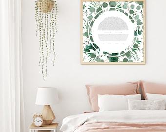 Eucalyptus Circle Ketubah Print