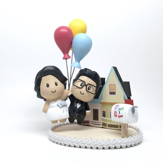 Personalized Cartoon Wedding Cake Topper Hand Sculpted Cute