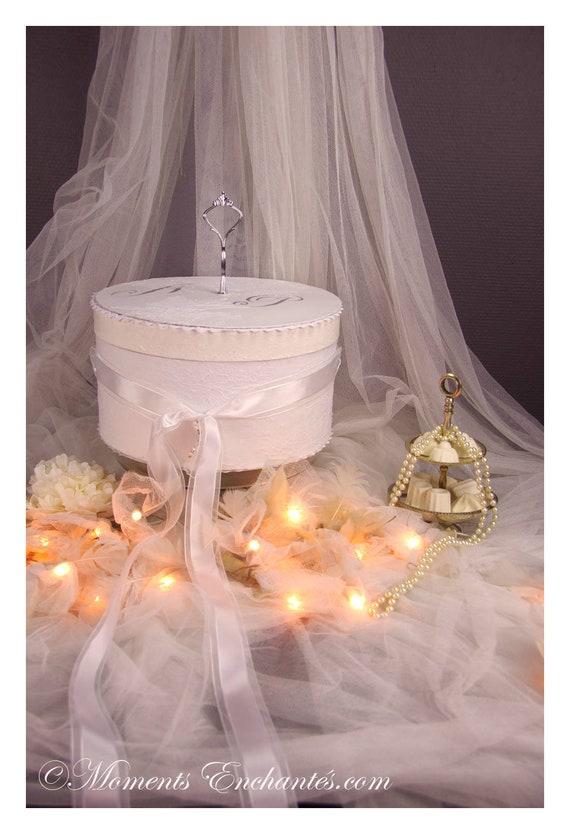 Urne mariage dentelle