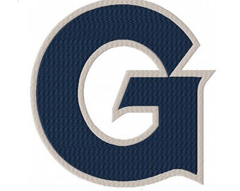 Georgetown G Machine Embroidery Digital Download