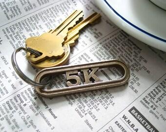 5K gift for Runners - Running keychain - 5K race keychain - 5k run - running accessory - running inspiration
