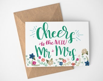 Just Married Card, Newly Married Gift, Wedding Card, Wedding Card Congratulations, Card For Wedding Day, Card For Wedding Gift