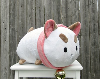 Large Puppycat Stackable Roll Pillow Plush - Made to Order