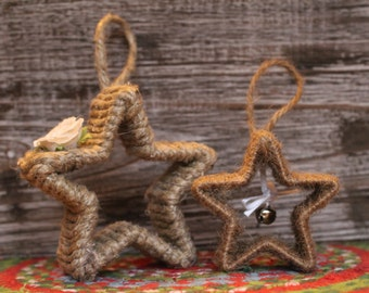 STAR Christmas Ornaments - PAIR