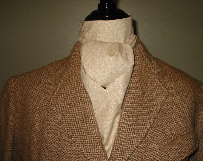 Cream and Tan Vine Pattern Stock Tie
