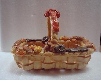 Vintage Handmade Weaved Dough Basket