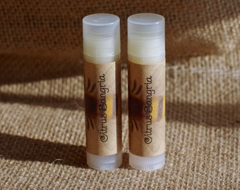 Citrus Sangria Lip Balm || Organic Lip Balm