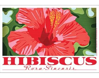 Hibiscus Flower Rosa-Sinensis Poster