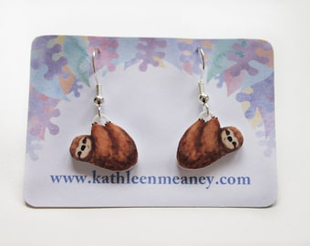 Sloth drop animal earrings