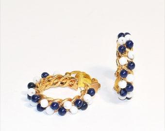 Vintage 60s creole clip earrings