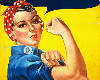 Rosie the Riveter - We Can Do It! - Poster (Art Prints available in multiple sizes)