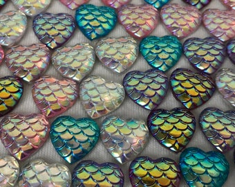 Mermaid Heart Magnets Small or Large
