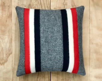 Camping Blanket • Camper Decor • Cabin Pillow • Camping Decor • Cabin Gift • Camp Pillow • Cabin Decor • Camping Gift • Red White and Blue